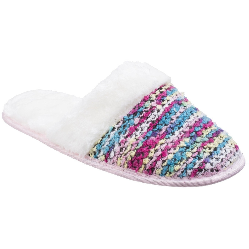 Divaz Womens/Ladies Divaz Salzburg Knittted Fluffy Mule Slippers Small