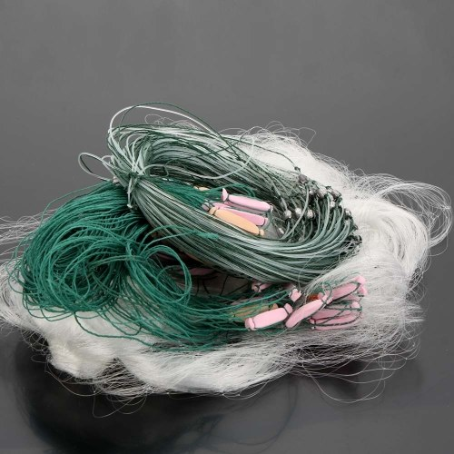 Lixada 25m 3 Layers Monofilament Fishing Fish Gill Net with Float